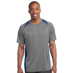 Adult Heather Colorblock T