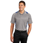 Adult Heather Colorblock Polo