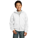 Youth 50/50 Full-Zip Hooded Sweatshirt