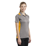 Ladies Heather Colorblock Polo